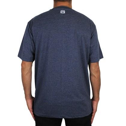 Camiseta Extra Grande Hang Loose Wave Marinho Mescla