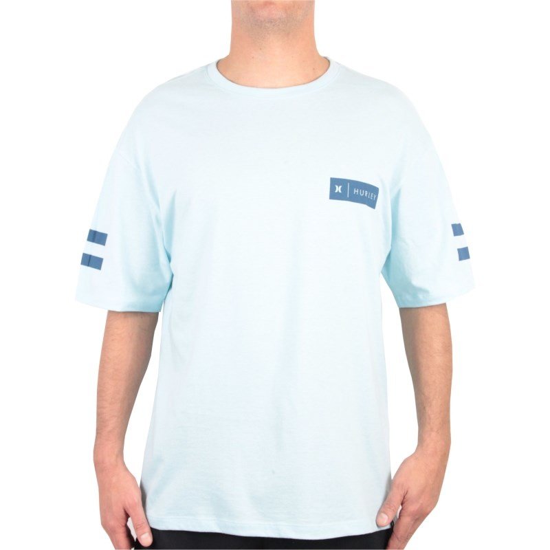 Camiseta Extra Grande Hurley Badge Party Glacial  f066acd4c81