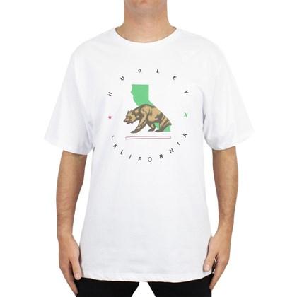 Camiseta Extra Grande Hurley Cali Step Branca