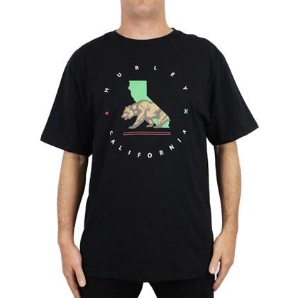 Camiseta Extra Grande Hurley Cali Step Preta