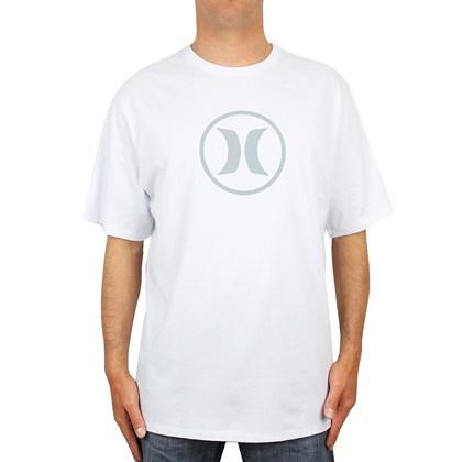 Camiseta Extra Grande Hurley Circle Icon Branca