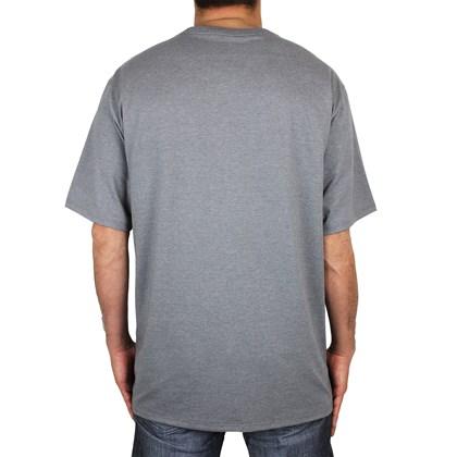 Camiseta Extra Grande Hurley Circle Icon Cinza Mescla