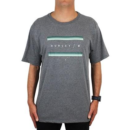 Camiseta Extra Grande Hurley Grades Cinza Mescla