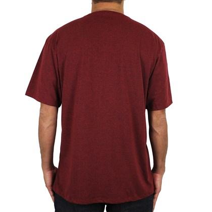 Camiseta Extra Grande Hurley Mesh Vermelho Mescla