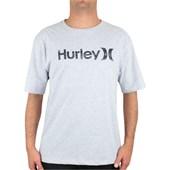 Camiseta Extra Grande Hurley O&O Push Through Cinza Mescla