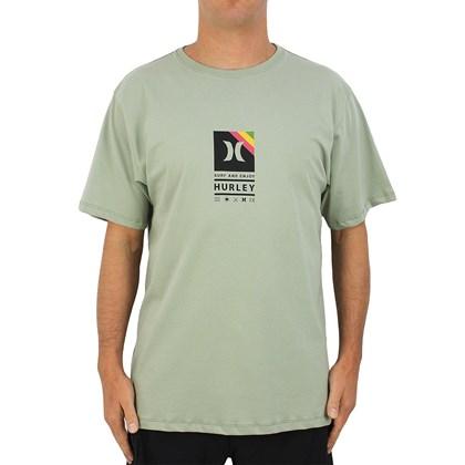 Camiseta Extra Grande Hurley Vibex Pistache