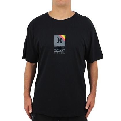 Camiseta Extra Grande Hurley Vibex Preta
