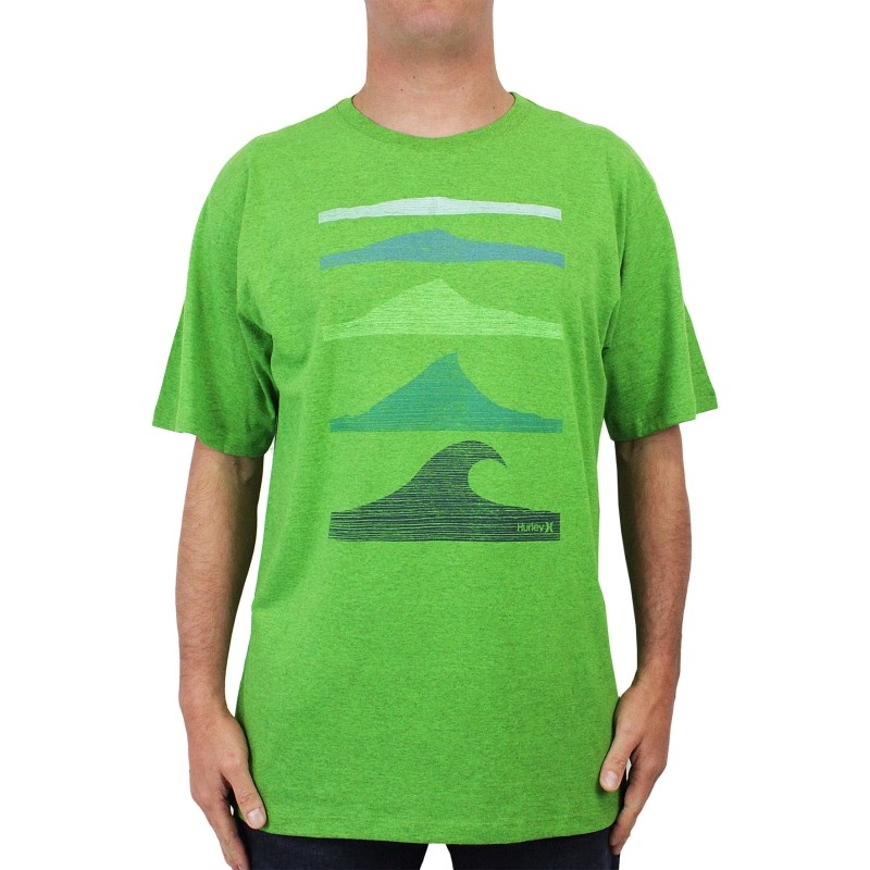 Camiseta Extra Grande Hurley Wait For It Verde Mescla