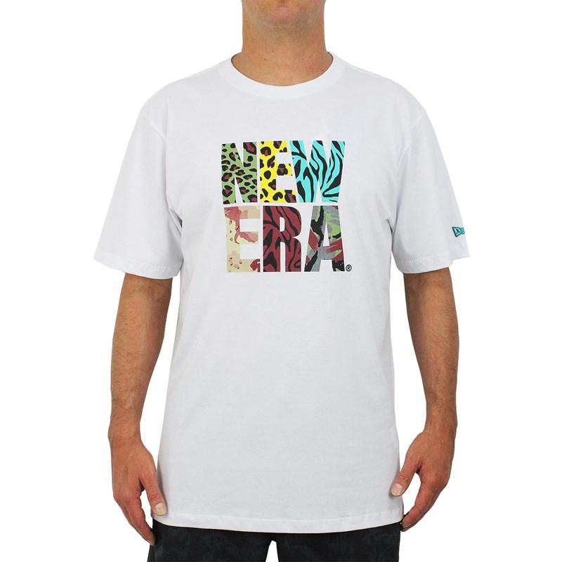 Camiseta Extra Grande New Era Flag Dude Print White
