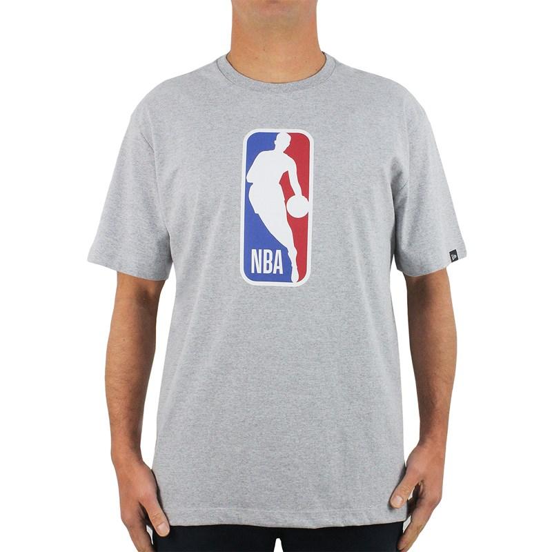 Camiseta Extra Grande New Era NBA Basic Heather Grey