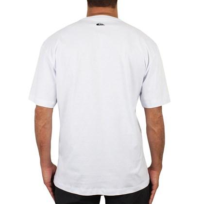 Camiseta Extra Grande Quiksilver California Coast Branca