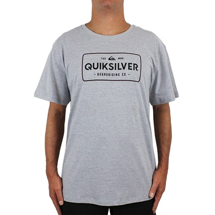 Camiseta Extra Grande Quiksilver Detention Thermal Grey Heather
