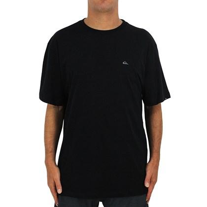 Camiseta Extra Grande Quiksilver Embroidery Preta