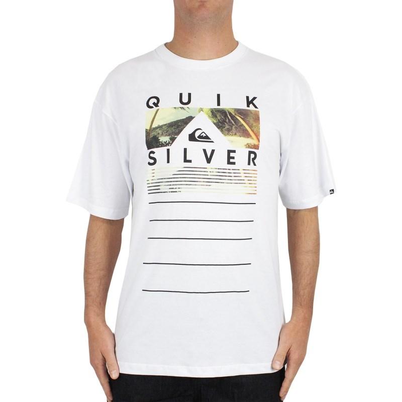 Camiseta Extra Grande Quiksilver Good Times Branca