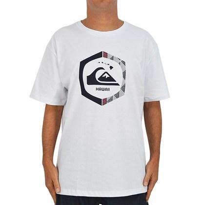 Camiseta Extra Grande Quiksilver Kahuku Branca