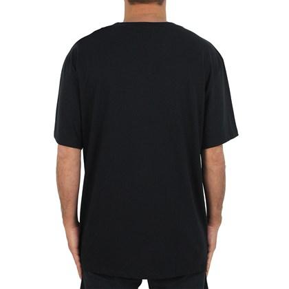 Camiseta Extra Grande Quiksilver Multi Hex Preta
