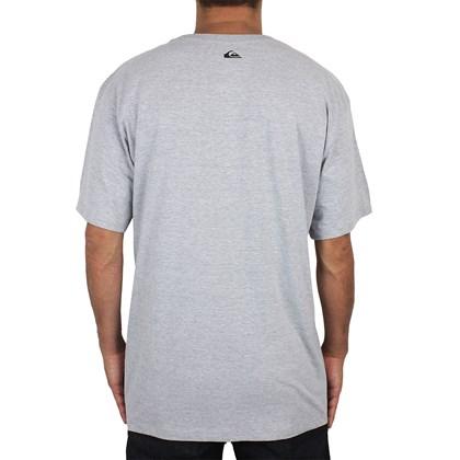 Camiseta Extra Grande Quiksilver Reverso Surf Cinza Mescla