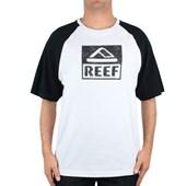 Camiseta Extra Grande Reef Newport Raglan Branca