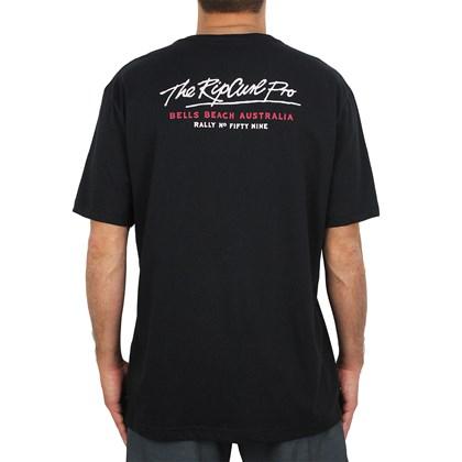 Camiseta Extra Grande Rip Curl Bells Pro Black