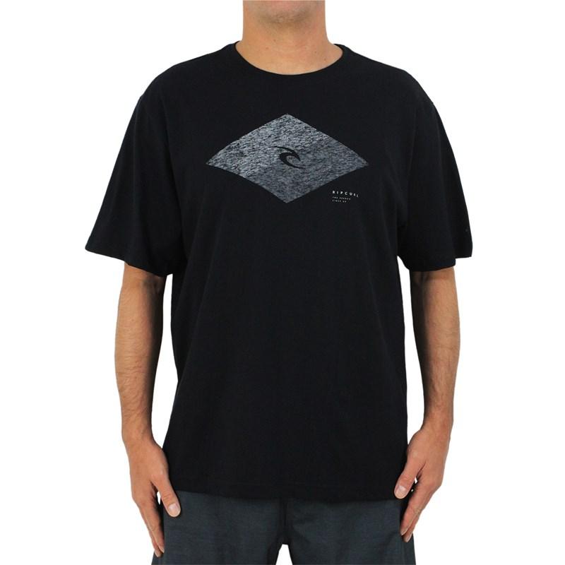 Camiseta Extra Grande Rip Curl Icon Diamond Black