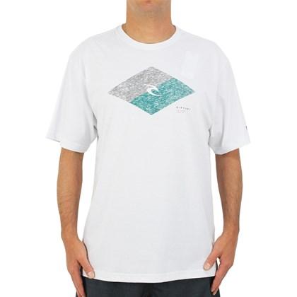 Camiseta Extra Grande Rip Curl Icon Diamond White