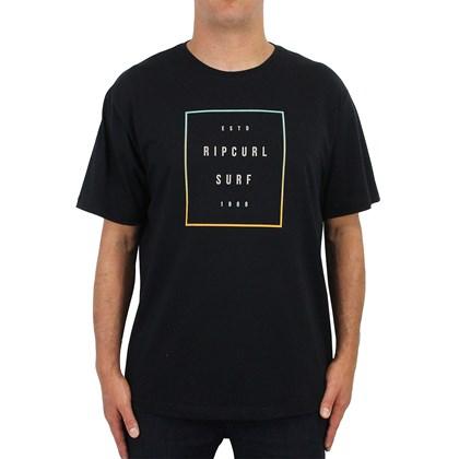 Camiseta Extra Grande Rip Curl Six Nine Stretch Preta ... 334e05050d0