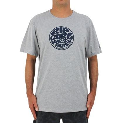 Camiseta Extra Grande Rip Curl Wettie Logo Grey Marle