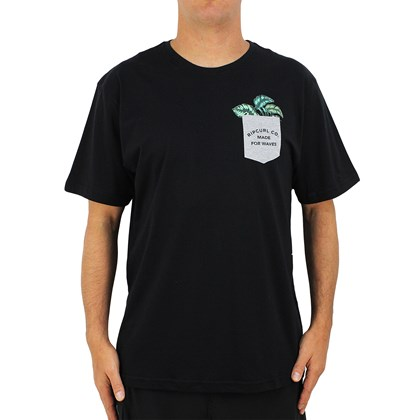 Camiseta Extra Grande Rip Curl Yardage Pocket Black