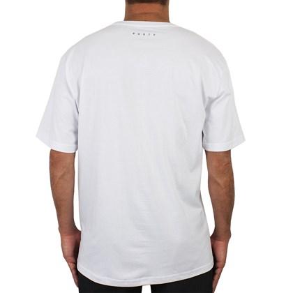 Camiseta Extra Grande Rusty Box Leaf Branca