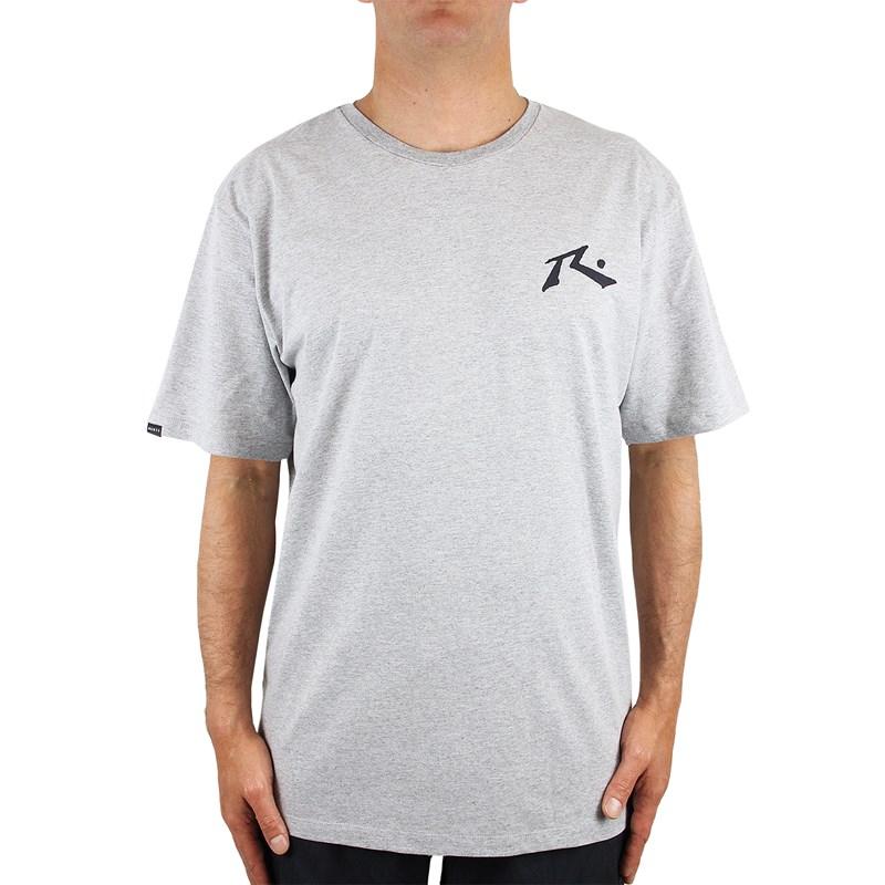 Camiseta Extra Grande Rusty Competition Cinza Mescla
