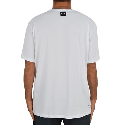 Camiseta Extra Grande RVCA All Out Branca