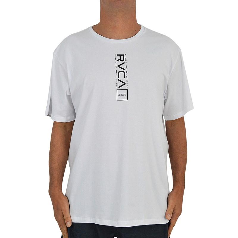 Camiseta Extra Grande RVCA All Out Branca Proteção Solar UVA e UVB