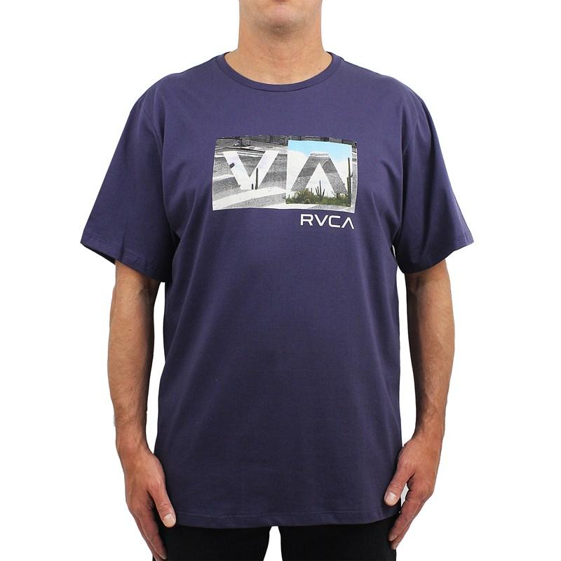 Camiseta Extra Grande RVCABalance Box Navy