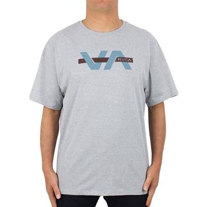 Camiseta Extra Grande RVCA Random Box Cinza Mescla
