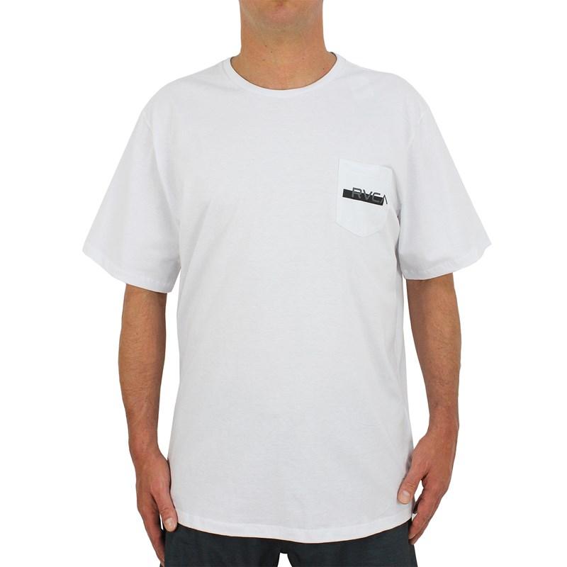 Camiseta Extra Grande RVCA Redacted Branca