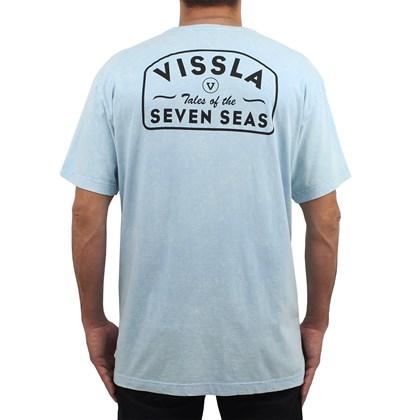 Camiseta Extra Grande Vissla Plain Sailing Light Blue