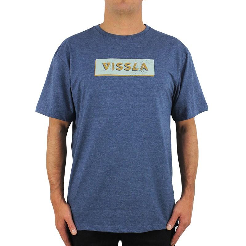 Camiseta Extra Grande Vissla Retro Foundation Dark Denim