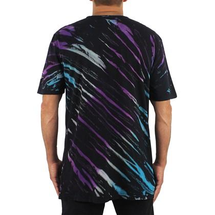 Camiseta Extra Grande Volcom Agreedment Tie Dye Black