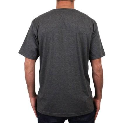 Camiseta Extra Grande Volcom Classic Stone Preto Mescla