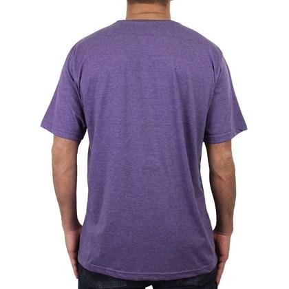 Camiseta Extra Grande Volcom Creep Stone Roxo Mescla