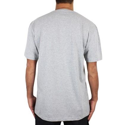 Camiseta Extra Grande Volcom Crisp Euro Cinza Mescla