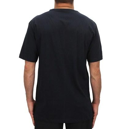 Camiseta Extra Grande Volcom Crisp Hawaii Preta