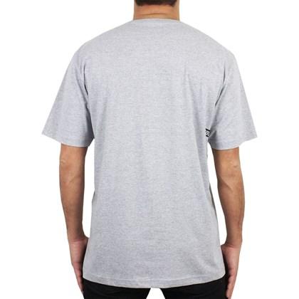Camiseta Extra Grande Volcom Deadly Stone Cinza Mescla