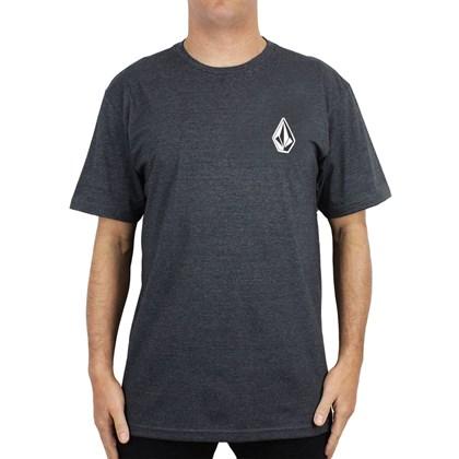 Camiseta Extra Grande Volcom Deadly Stone Preto Mescla