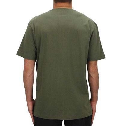 Camiseta Extra Grande Volcom Deadly Stone Verde Militar