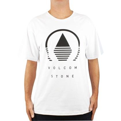 Camiseta Extra Grande Volcom Horizon Branca