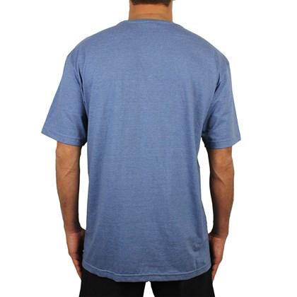 Camiseta Extra Grande Volcom Lino Euro Azul Mescla