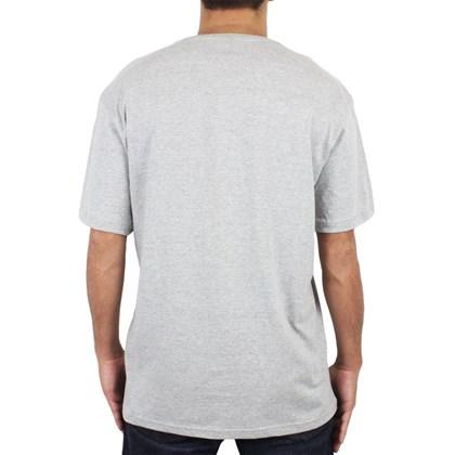 Camiseta Extra Grande Volcom Lino Stone Cinza Mescla
