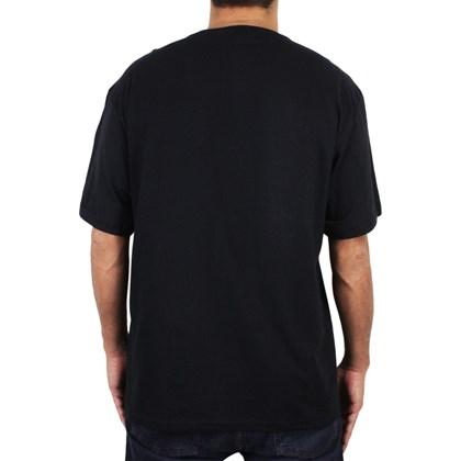 Camiseta Extra Grande Volcom Lino Stone Preta