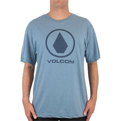 Camiseta Extra Grande Volcom Solid Stone Azul Mescla